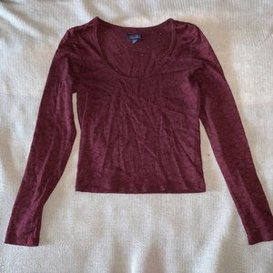 American Eagle long sleeve cropped Top